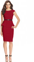 XOXO Juniors' Cap-Sleeve Peplum Sheath Dress