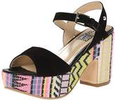 Love Moschino Women's Ethnic Print Wedge Sandal,37 BR/7 M US