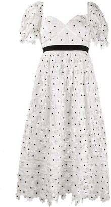 Self-Portrait Polka Dot Dress