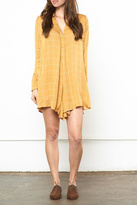 Knot Sisters Mustard Shirt Dress