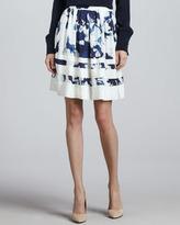Troubadour Duncan Inkblot-Print Skirt