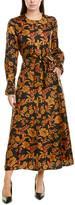 Lafayette 148 New York Coleen Silk Maxi Dress