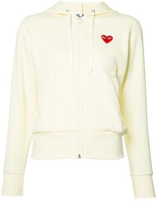Comme des Garcons heart logo hoodie