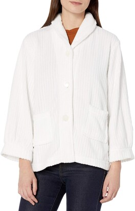 Casual Moments Women's Bed Jacket Needle Out Finish