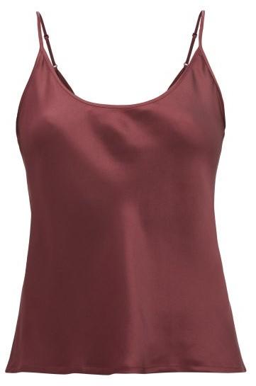 La Perla Silk-satin Camisole - Womens - Burgundy