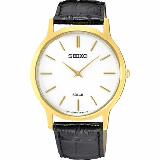 Seiko Mens Analogue Quartz Watch with Leather Strap SUP872P1