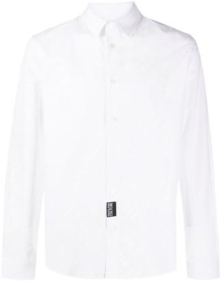 Versace Logo Printed Buttoned Shirt