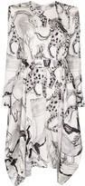 Stella McCartney horse print belted dress