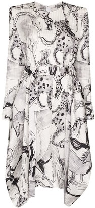 Stella McCartney Kalyn horse-print dress