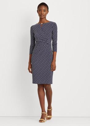 Ralph Lauren Print Wrap-Style Jersey Dress