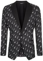 Dolce & Gabbana Guitar And Trombone Print Suit Jacket