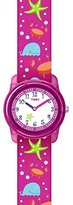 Timex Children's Quartz Watch with White Dial Analogue Display and Multicolour Nylon Strap TW7C13600