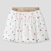 Cat & Jack Girls' Rainbow Sparkle Party Skirt - Cat & Jack White