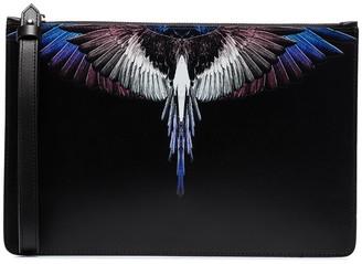 Marcelo Burlon County of Milan Wings print clutch bag