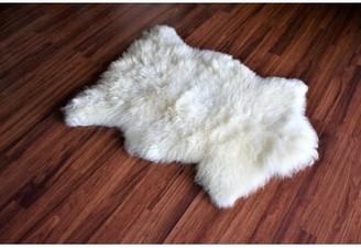 "Buller Animal Print Handmade 2'5"" x 3' Sheepskin Cream Indoor / Outdoor Area Rug Millwood Pines"