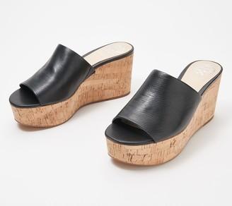 Vince Camuto Leather or Textile Slide Wedges - Gadgen