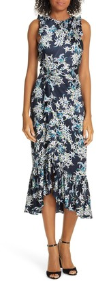 Cinq à Sept Mirna Floral Silk Midi Dress