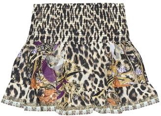 Camilla Kids Embellished printed skirt