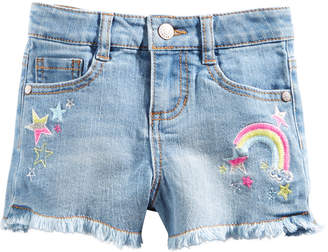 Epic Threads Little Girls Rainbow & Stars Denim Shorts