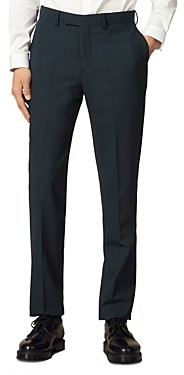 Sandro Solid Slim Fit Suit Pants