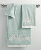 """Avanti Bath, Sequin Shells 11"""" x 18"""" Fingertip Towel"""