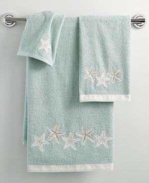 "Avanti Bath, Sequin Shells 27"" x 50"" Bath Towel Bedding"