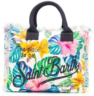 MC2 Saint Barth Floral-Print Slogan Tote Bag