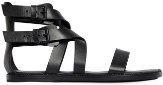 Ann Demeulemeester 10mm Leather Flat Sandals