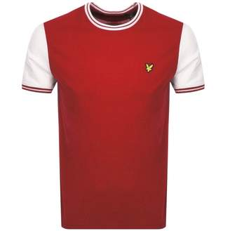 Lyle & Scott Crew Neck Tipped T Shirt Red