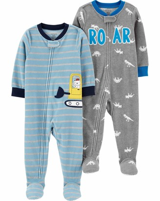 Carter's Boys 2-Pack Loose Fit Fleece Footed Pajamas Sleepers