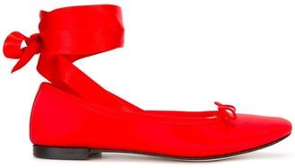 Repetto ankle-wrap ballerinas