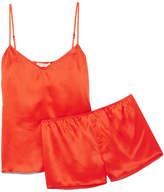 Equipment Alexy Silk-satin Pajama Set - Red