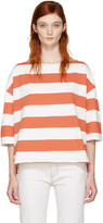 YMC Red and White Oversized Agnes T-shirt