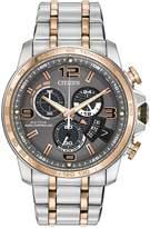 Citizen Men's Eco-Drive Chrono-Time A-T Two-Tone Bracelet Watch