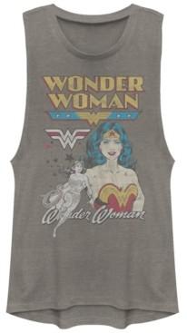 Fifth Sun Dc Wonder Woman Retro Logos Festival Muscle Women's Tank