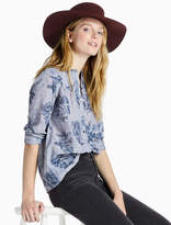 Lucky Brand Floral Chambray