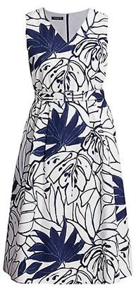 Lafayette 148 New York, Plus Size Vienna Porcelain Midi Dress