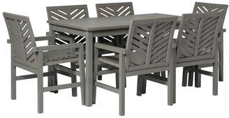 Hewson 7Pc Outdoor Patio Acacia Wood Dining Set