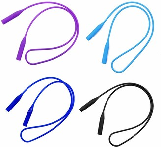 Inzopo 4x Silicone Glasses Chain Strap Cord Holder Neck Lanyard for Reading Keeper