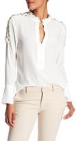 Pierre Balmain Button Sleeve Silk Shirt