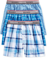 Hanes Boys' or Little Boys' 3-Pack Woven Boxers