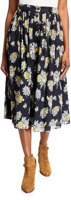 Brock Collection Olivia Floral-Print Skirt