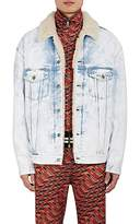 "Gucci Men's ""Thanatos"" Tiger-Embroidered Denim Jacket"