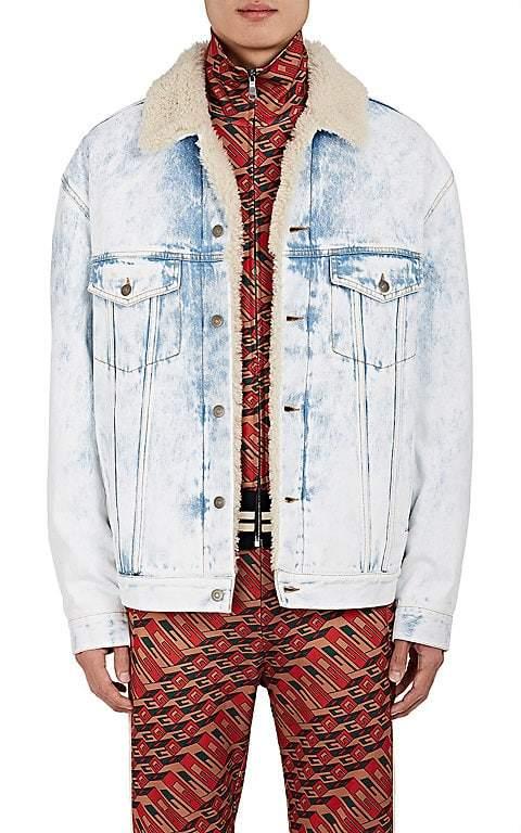 "Gucci Men's ""Thanatos"" Tiger-Embroidered Denim Jacket"