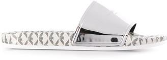 Emporio Armani Logo-Print Flat Slides