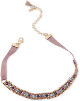 lonna & lilly Gold-Tone Beaded Ribbon Choker Necklace