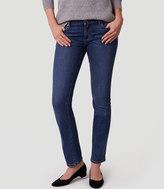 LOFT Curvy Straight Leg Jeans in Rich Mid Indigo Wash