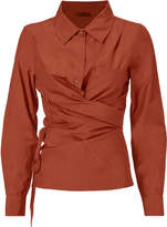 Nicholas K Roux Wrap Crimson Top