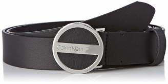 Calvin Klein Women's 3cm Round Buckle Belt Black (Black 001)) 42 (size: 95)
