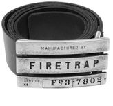Firetrap Mens Gents Gate Belt Stylish Everyday Wear Buckle Logo Branded